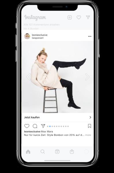 Instagram Werbung mit Lyonic aus Bielefeld