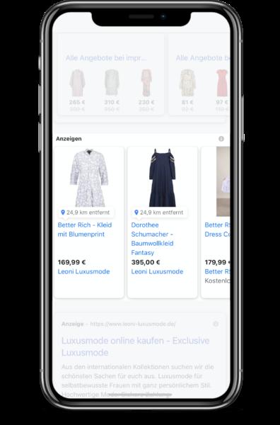 Google Local Shopping Werbung mit Lyonic aus Bielefeld